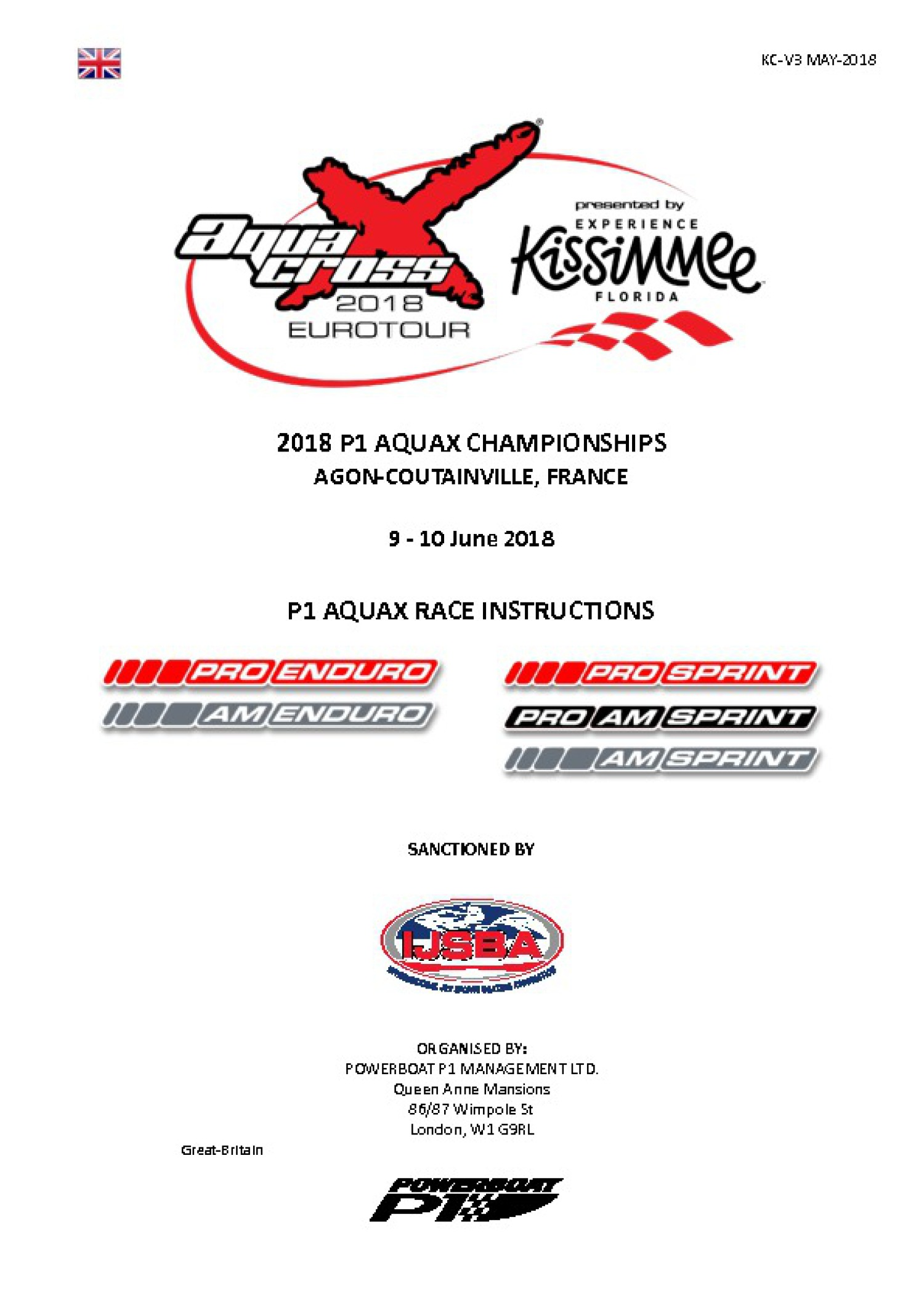 Agon-Coutainville / Race Instructions in ENG