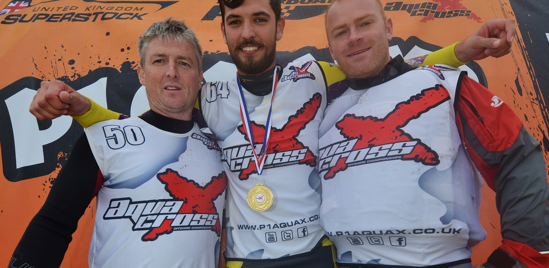 Final Podium of the year - L-R Leach, Harvey and Batte