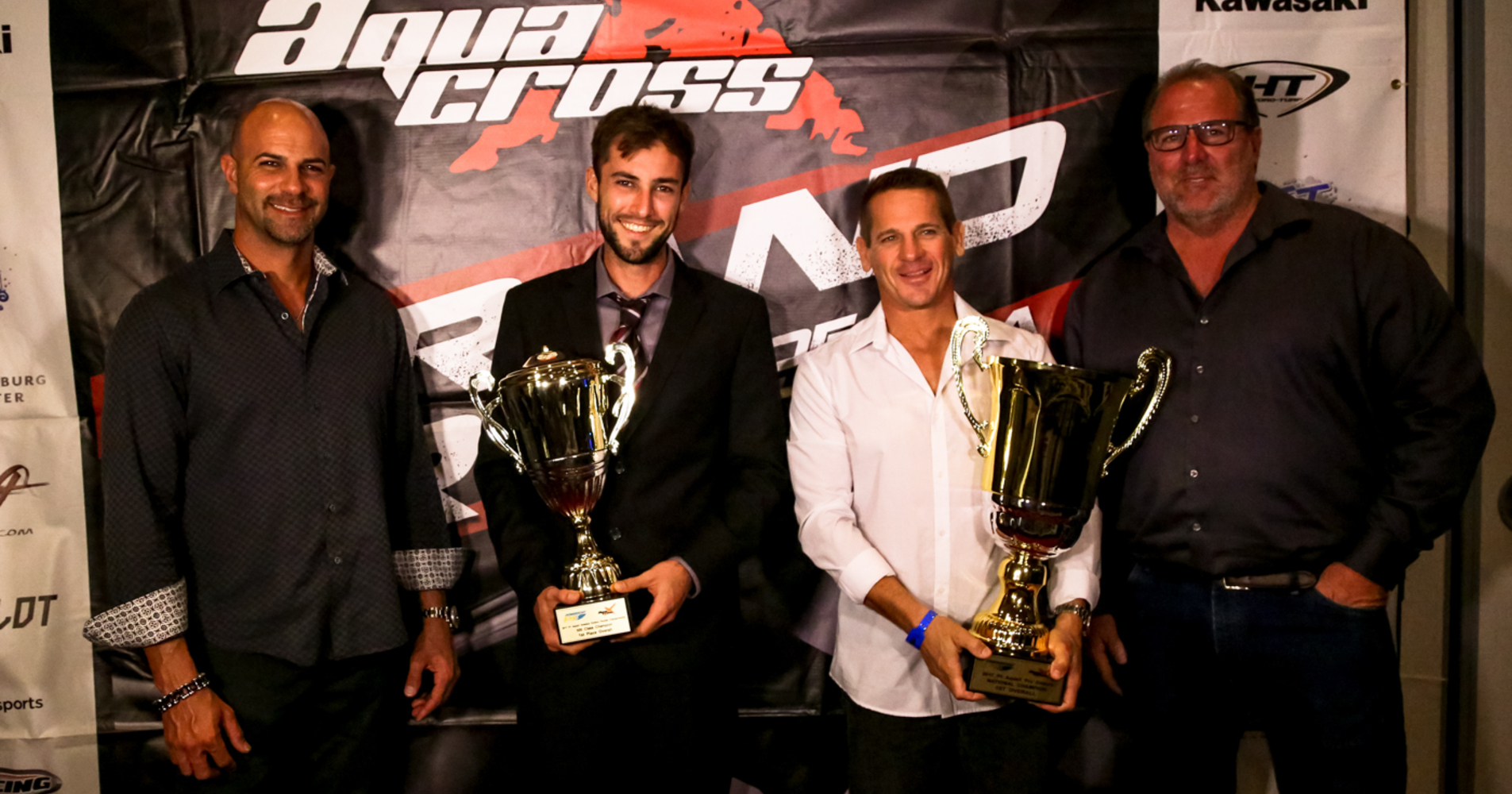 MacClugage stands alongside fellow Broward Motorsports teammate Cody Tetreault at the end of season awards