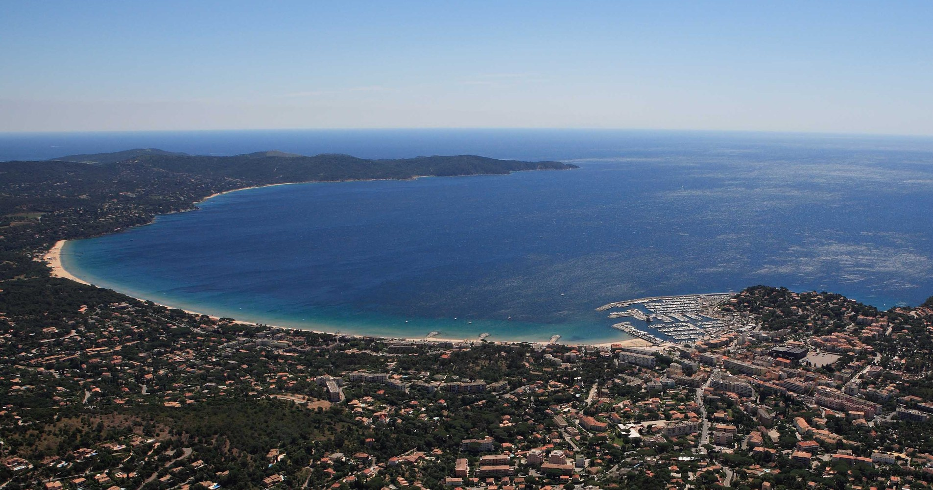 Cavalaire from the air