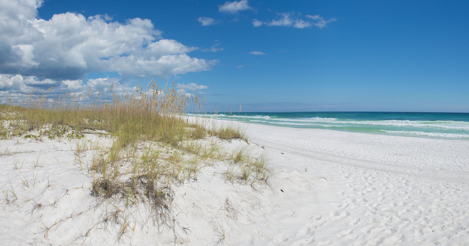 The beautiful white sands of Pensacola Beach