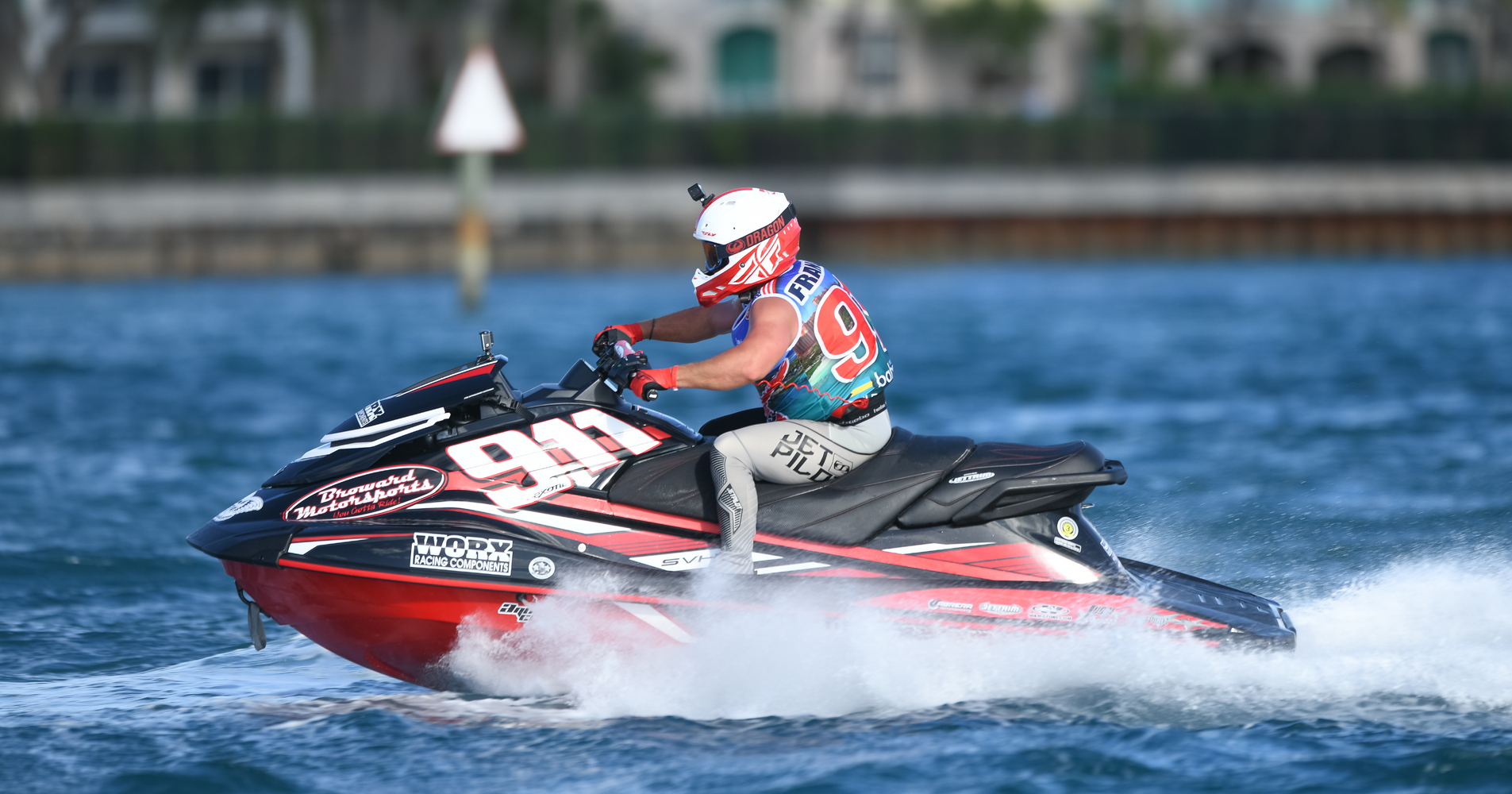 Broward Motorsport rider Eric Francis on board on his Yamaha GP1800