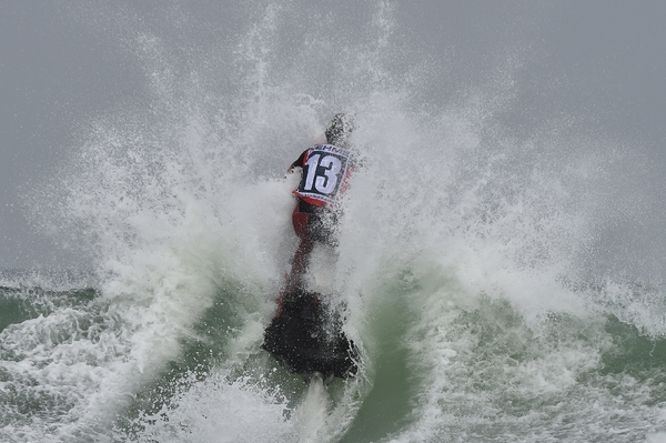 Sam Nehme tackles a wave in Daytona
