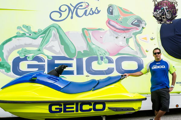 Jason Russo will fly the flag for GEICO in the P1 AquaX Pro Enduro Championship