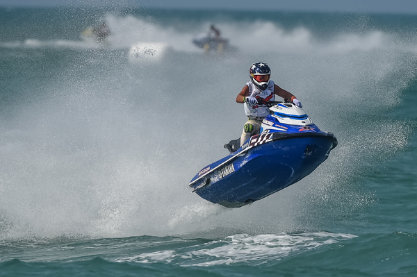 Eric Francis battled hard on his Yamaha GP1800 and was rewarded with second spot