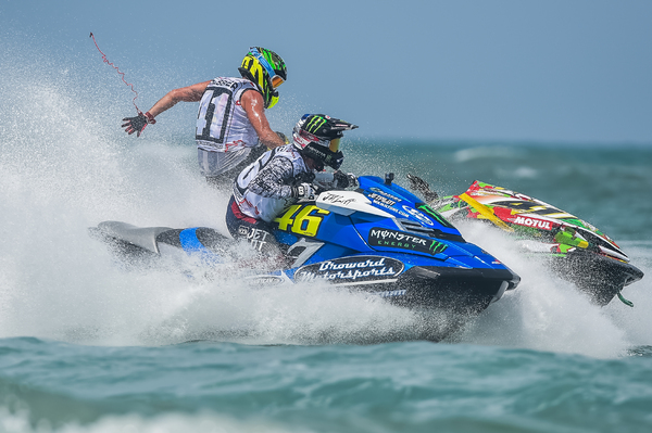 Chris MacClugage and David Chassier got a bit too close for comfort in race three