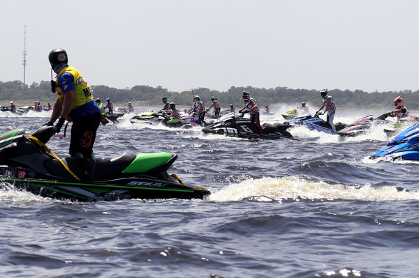 The flat waters of East Lake Toho provided some flat out racing