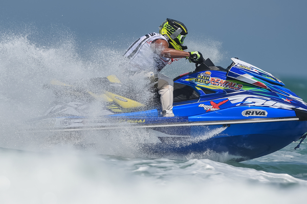 Nicolas Rius leads the weekend standings in just his second ever appearance in the AquaX Pro Series