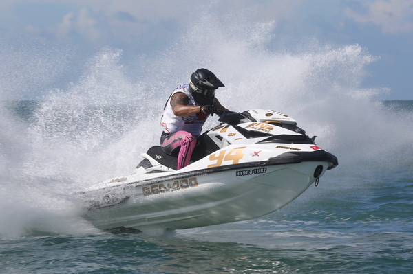 Erminio Iantosca ended the day on top of the pile after taking his first victory in the AquaX Pro Series