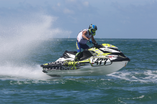 Jay Edworthy was one of many riders who produced a personal best on day one in Sarasota
