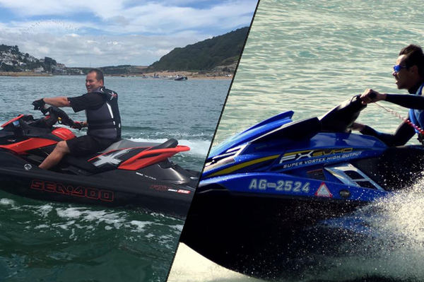 Joe Leeming (left) and Dennis Taylor (right) will be making their AquaX debut in Torquay