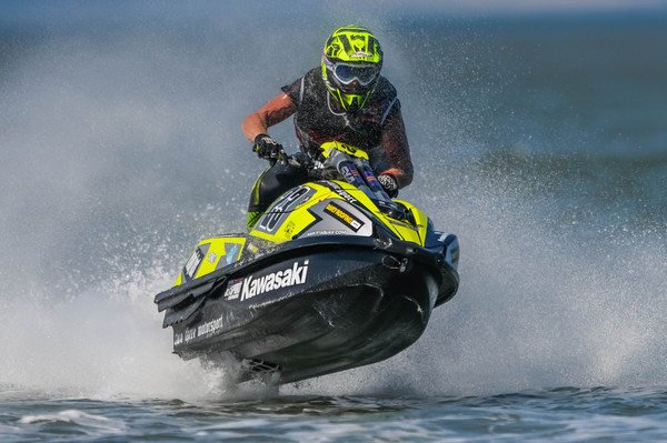 UK's Simon Gill is contesting the Pro/AM Ski Modified title