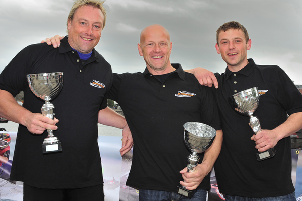 AquaX Champions -  from the right Duncan Johnstone, Russell Marmon and Dave Huddleston