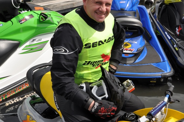 Chosen by the AquaX riders Adrian Wilson won the Scorpion MarineTrack award for Plymouth.