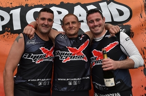 250 Podium - 2nd Damien Evans, 1st Richard Rowe, 3rd Nial Grannell (Rookie winner)