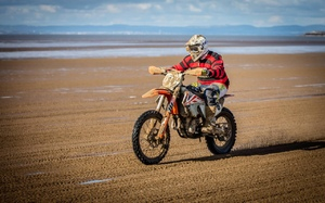 Joe Leeming raced motorcycle Enduro, expert class before turning to the water