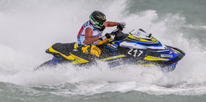 Nicolas Rius suffered a dislocated shoulder and did well to complete all three races