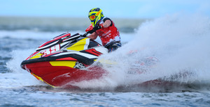 James Roberts leads the Am 300 class