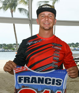 Eric Francis is on a good position after his victory on race 1
