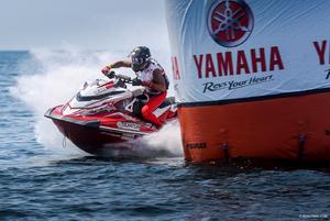 Aqsa Aswar rounding a Yamaha buoy                                                                                                                                              Photo Credit: RonnyMac