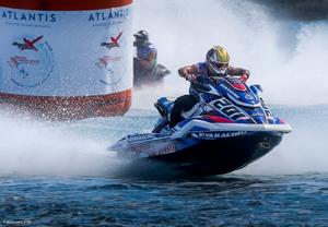 Chris Landis, Team RIVA Racing                                                                                                    Amateur 300 champion riding a Yamaha SVHO FX                                                                                                                                              Photo Credit: RonnyMac