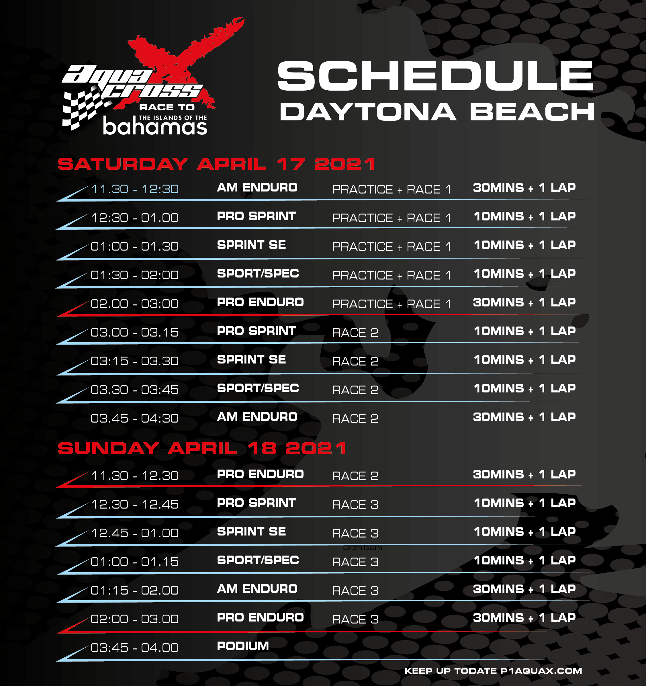 Daytona Beach Race Schedule