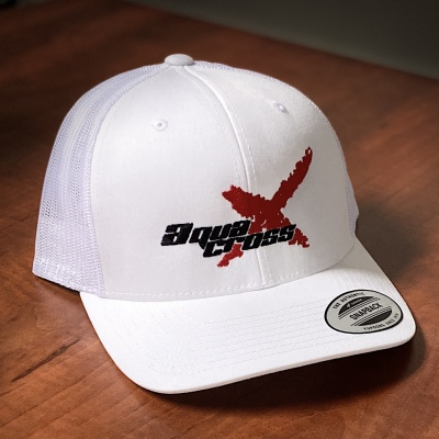 Picture of P1 AquaX Flat Peak Cap - White