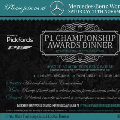Picture of P1 Championship Awards Dinner  - Adult (Early Bird)