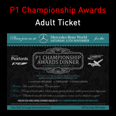 Picture of P1 Championship Awards Dinner  - Adult