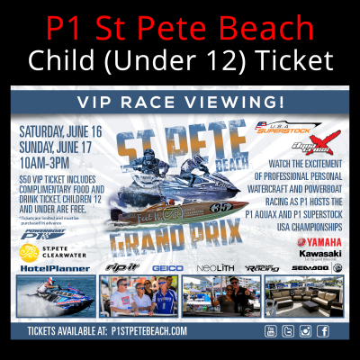 Picture of VIP Ticket (Child Under 12) - St Pete Beach